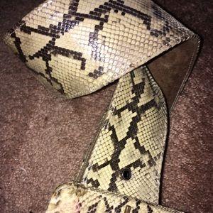 Authentic snakeskin belt